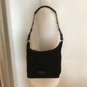 Prada Nylon Tessuto Quilted Small Shoulder Bag